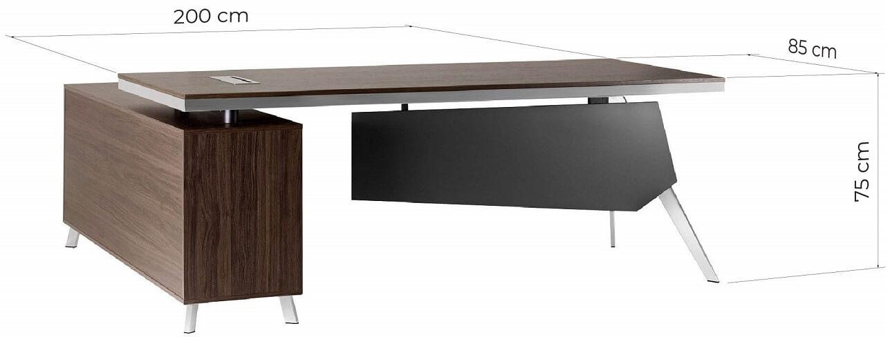 dimensioni scrivania direzionale