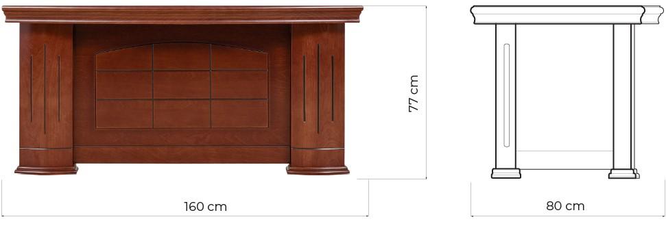 scrivania classica misure arredior