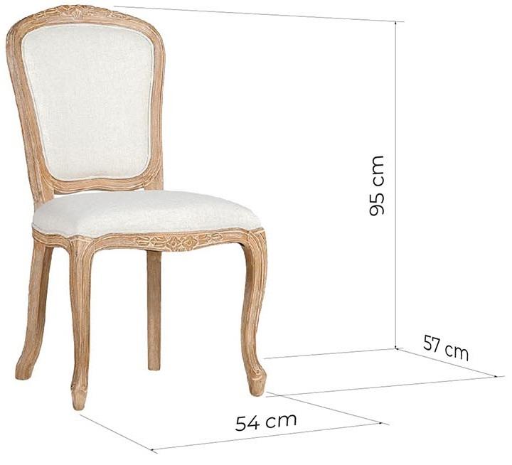 sedia provenzale legno massello imbottita bianca