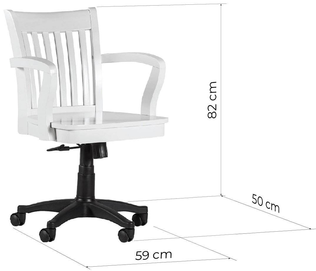 sedia scrivania bianca legno dimensioni