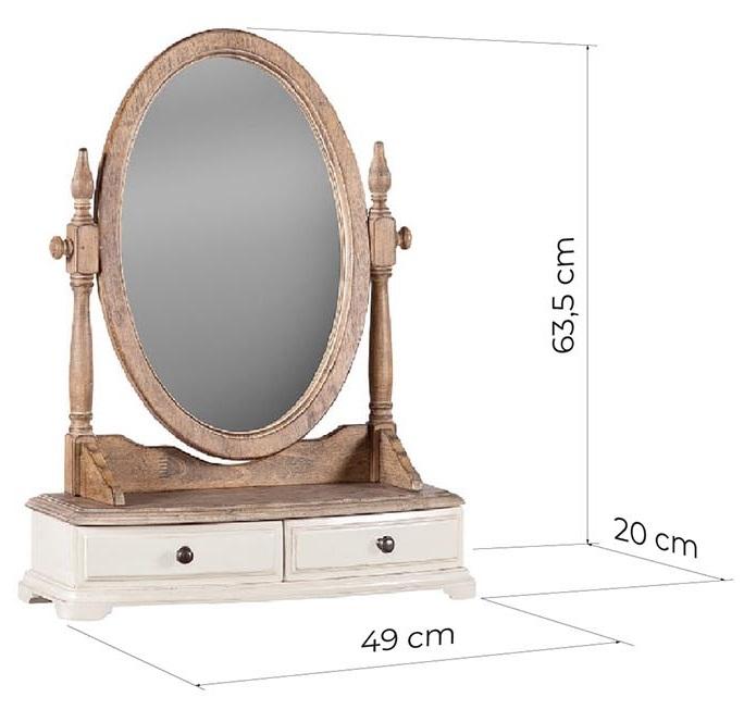 specchio da tavolo vintage legno