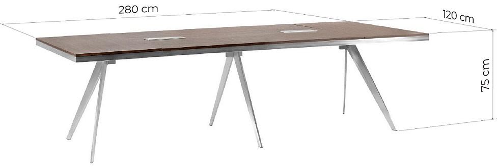 dimensioni tavolo ufficio conferenze