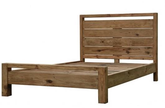 letto legno naturale rustico