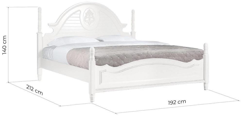 dimensioni letto provenzale bianco