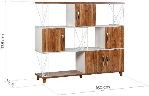 dimensioni libreria ufficio 160 x 40 x 138 cm
