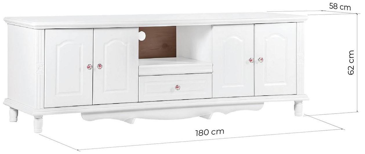 mobile porta tv legno bianco stile provenzale