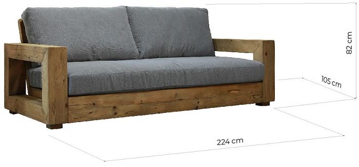 divani struttura legno massello