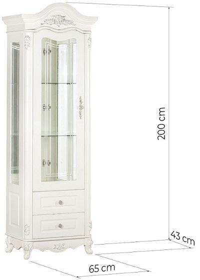 misure vetrina classica salotto