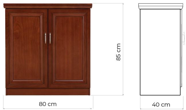 mobiletto basso per ufficio due ante legno per conservare libri e faldoni PRESTIGE C625B