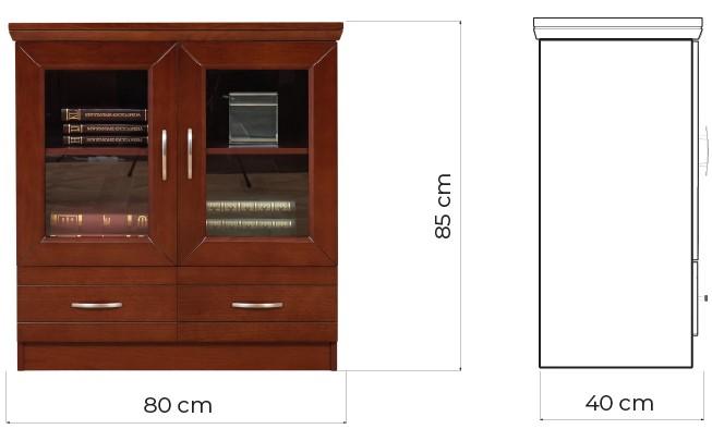 mobiletti studio legno due ante marrone noce prestige c725a