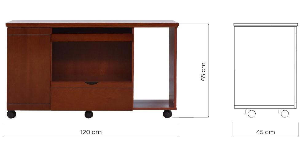 mobiletto sotto scrivania legno misure