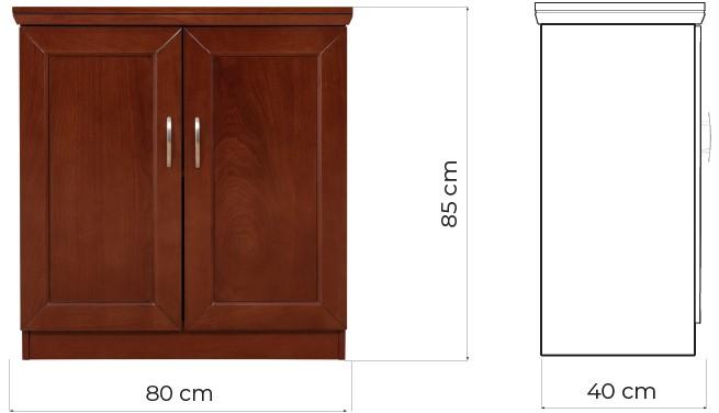 mobiletti ufficio legno marrone noce due ante prestige C725B arrediorg