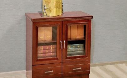 armadietto design in stile classico con ante vetro