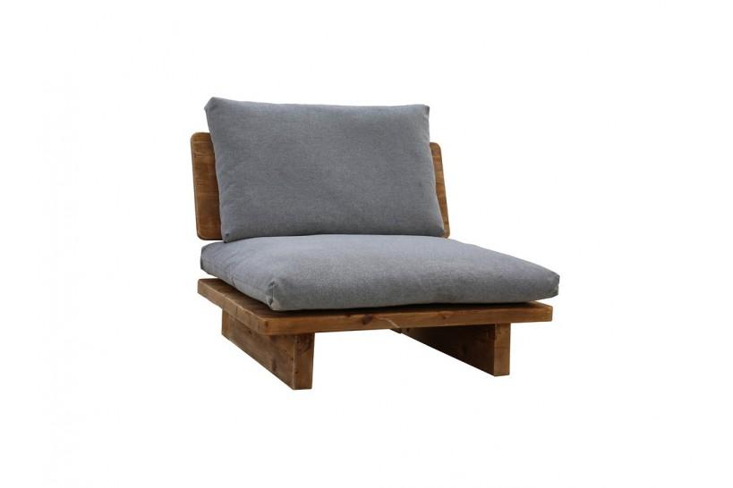 poltrona legno massello di design vintage
