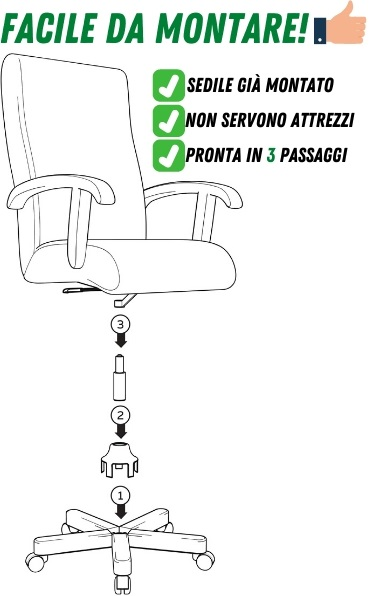 sedia direzionale montaggio