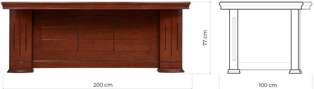 scrivanie classiche legno misure