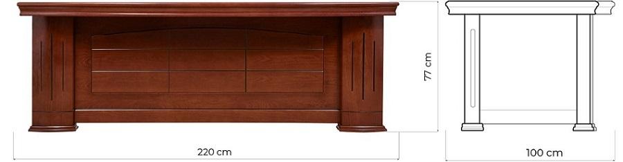 scrivania classica misure per uffici direzionali