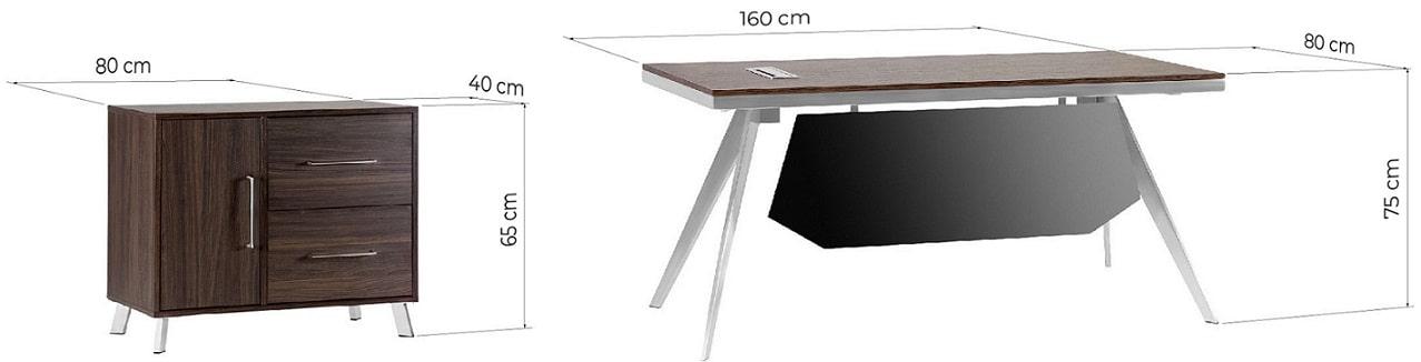 dimensioni scrivania noce
