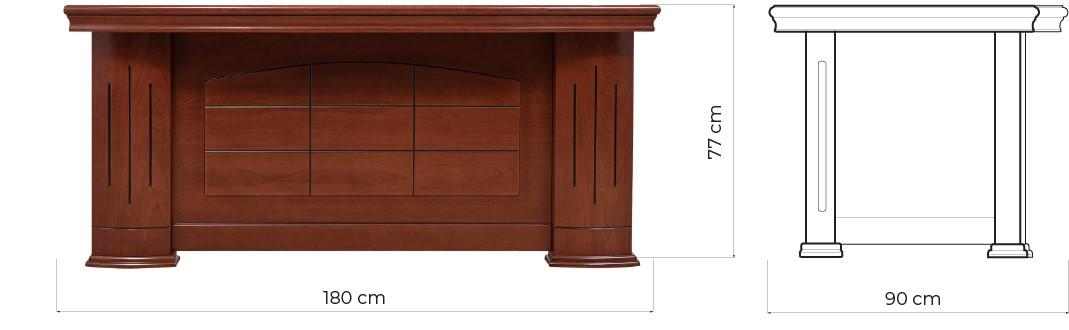scrivania ufficio classica b610 misure arrediorg