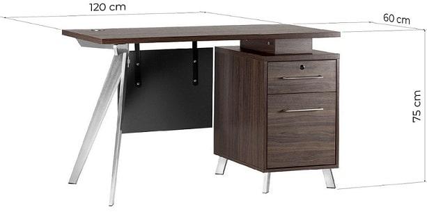 scrivania ufficio moderna misure