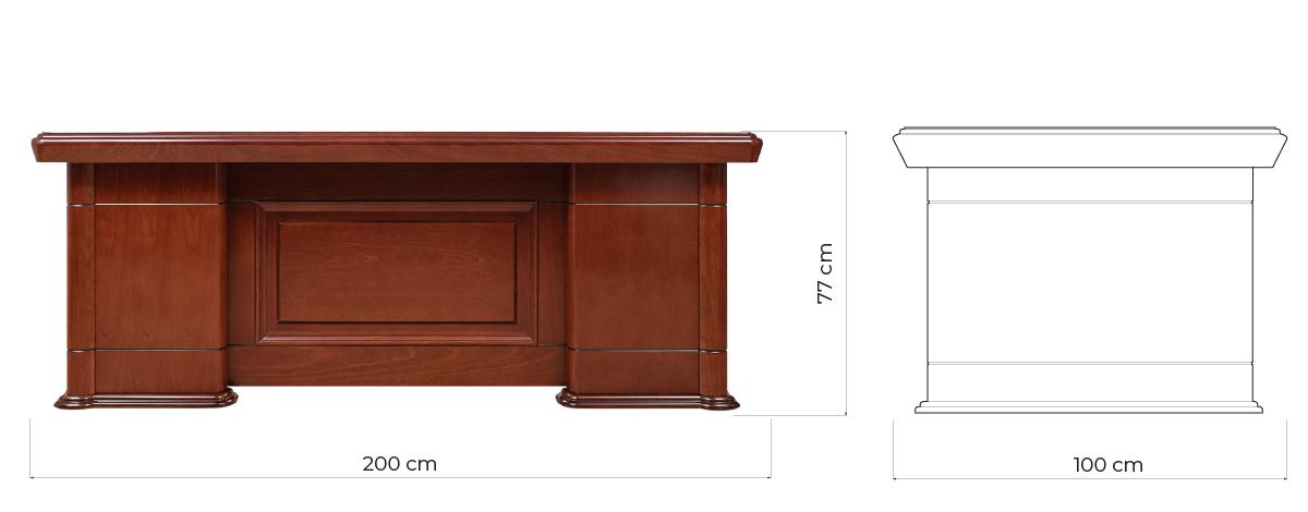 scrivanie classiche ufficio in legno