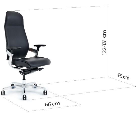 sedia ergonomica pelle nera misure
