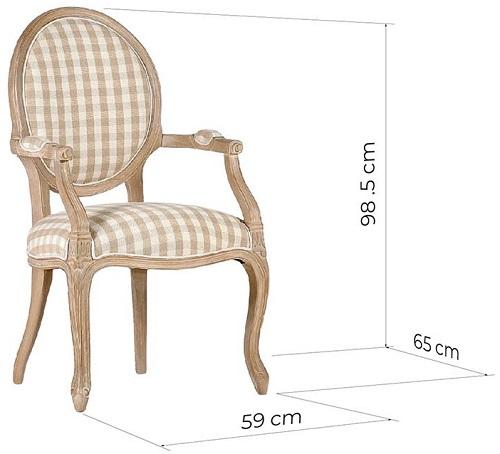 sedia a medaglione in stile luigi xvi misure