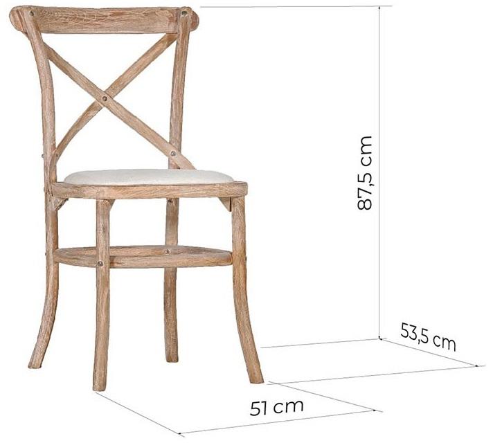 sedia shabby legno dimensioni