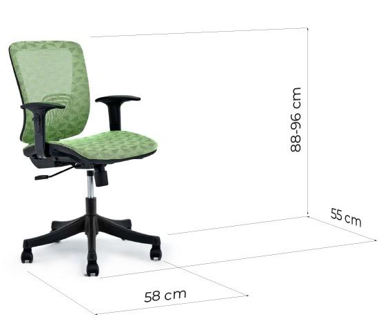 sedie ufficio operative misure