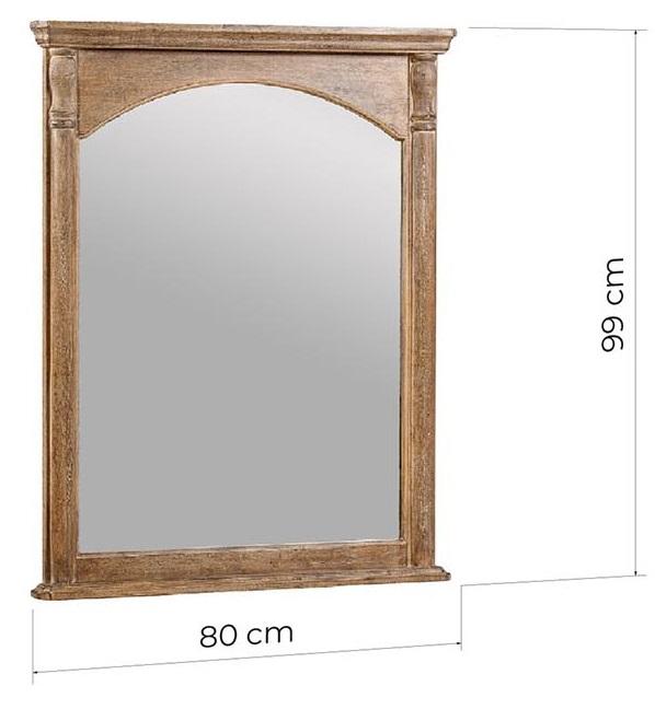 specchiera da tavolo vintage legno massello