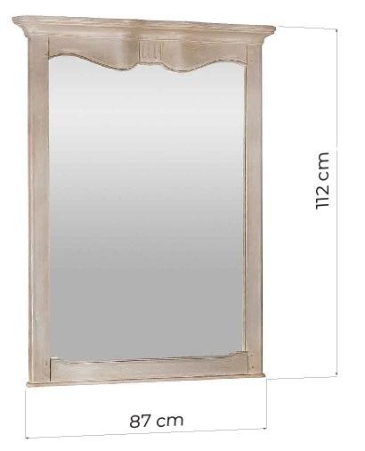 specchiera shabby chic in legno misure