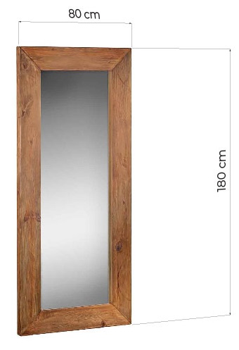 specchiere vintage legno