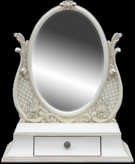 specchio ovale da tavolo