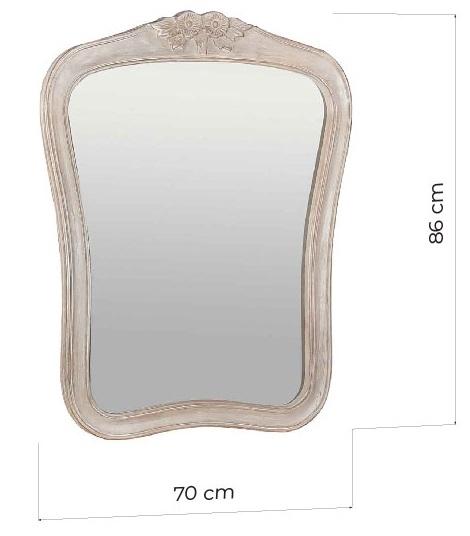 specchi decapati shabby legno dimensioni 90x70