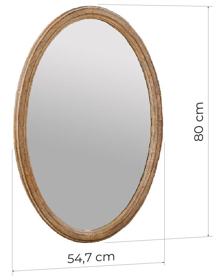 specchio ovale da parete dimensioni