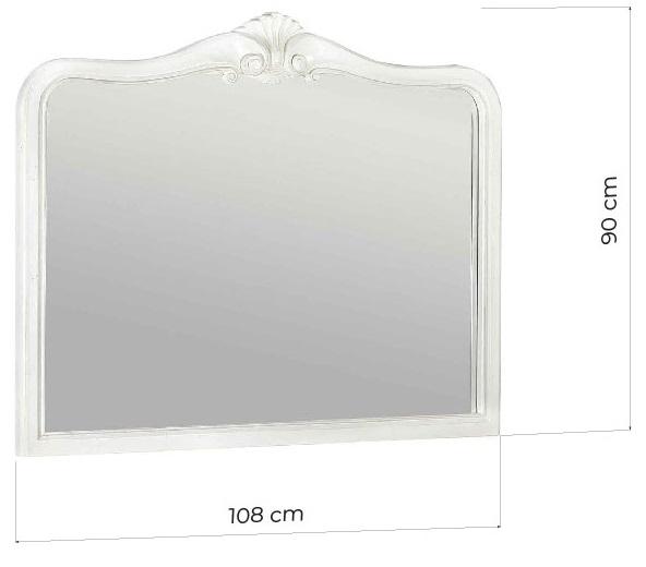 specchio shabby bianco in legno
