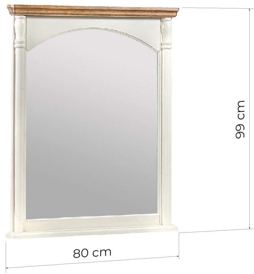 specchio decorativo shabby in legno bianco 80x100