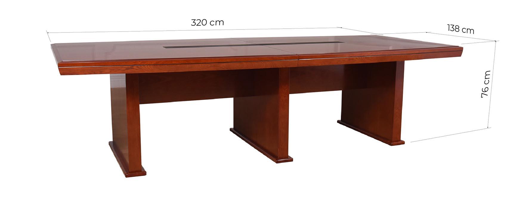 tavolo per riunioni dimensioni costruito in legno massello