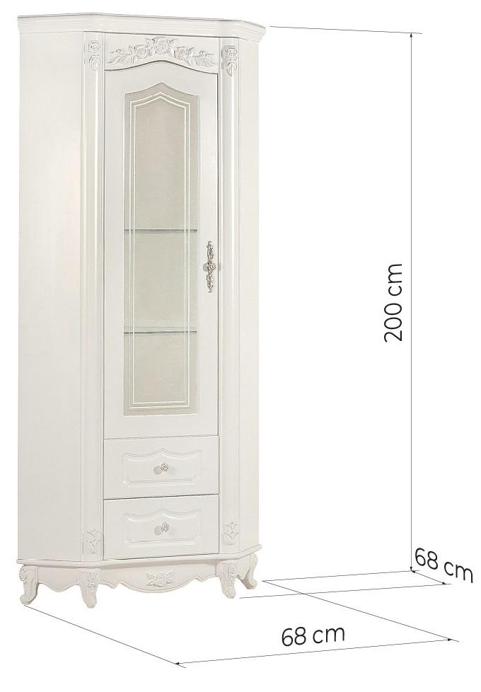 vetrina ad angolo classica per salotto