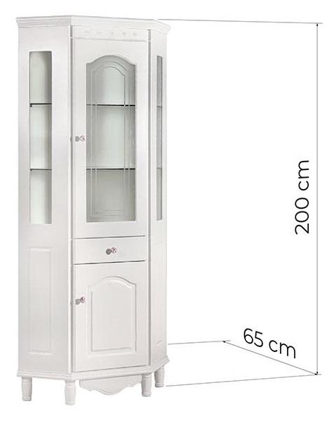 vetrina angolare bianca per soggiorno
