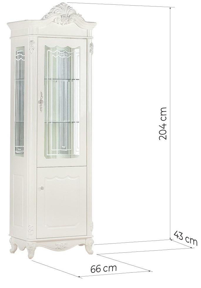 vetrina classica legno bianco