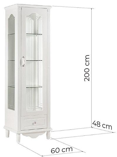 vetrina provenzale bianca