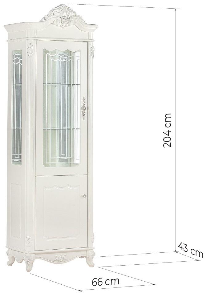 vetrina salotto classica bianca avorio